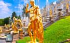 Fountains in Petrodvorets Peterhof Saint Petersbur