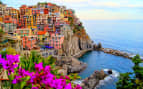 Village of Manarola on the Cinque Terre Coast of I