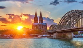 Sunset over Cologne, Germany