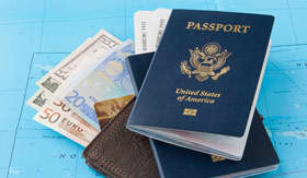 Passport and tickets