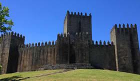 Castle of Guimaraes in Portugal