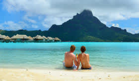 Couple in Tahiti