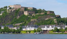 Koblenz Fortress on the Rhine in Germany