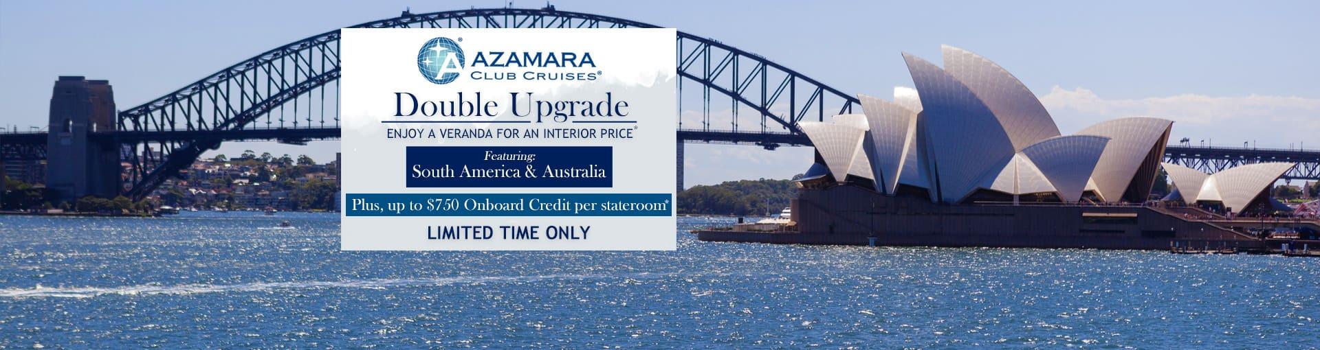 Azamara Club Cruises: Double Upgrade featuring South America and Australia