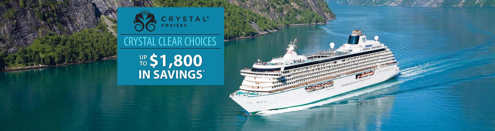 Crystal Cruises: Crystal Clear Choices Sale