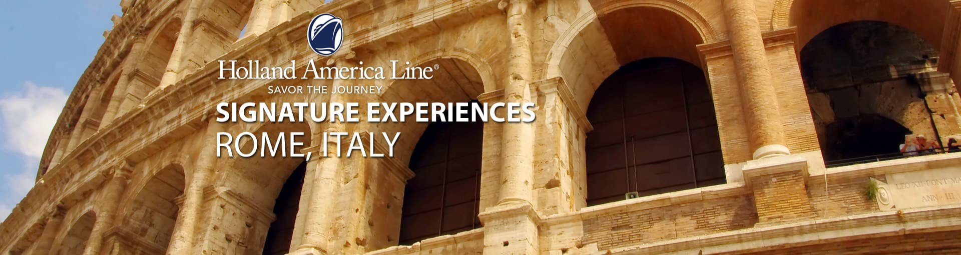 Holland America Signature Experiences - Rome, Italy