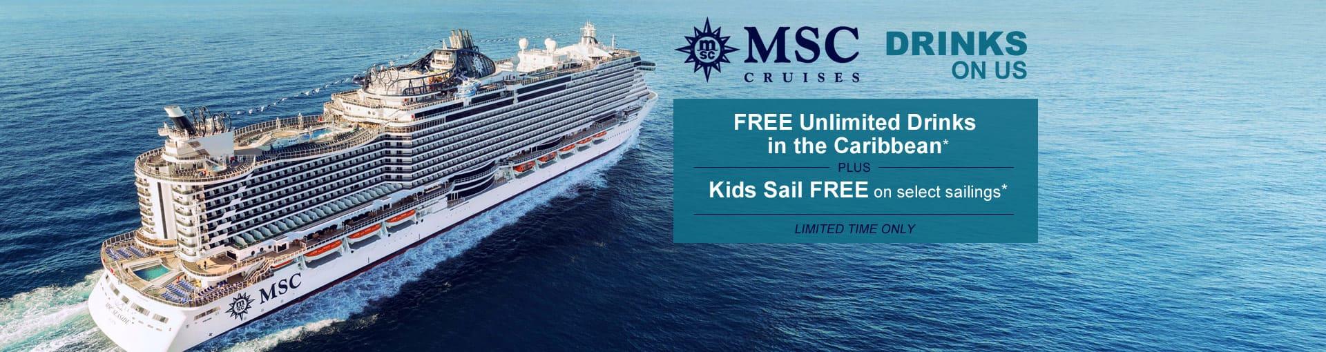 MSC Cruises - Drinks On Us Banner