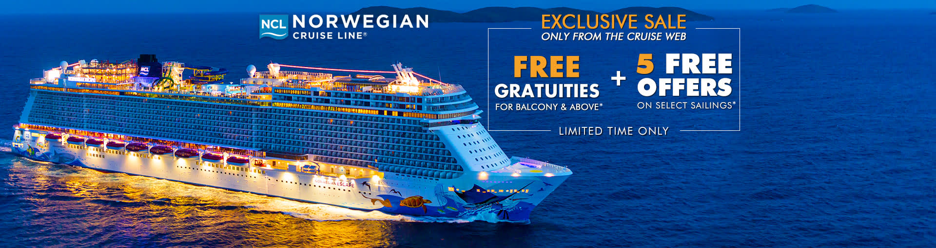 Norwegian Cruise Line: Free Gratuities