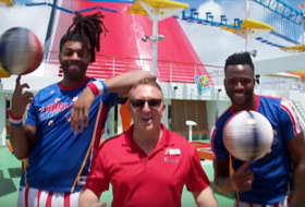 Harlem Globetrotters - Courtesy of Carnival Cruise Line