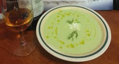 Chilled Cucumber Yogurt Soup from Celebrity Cruises