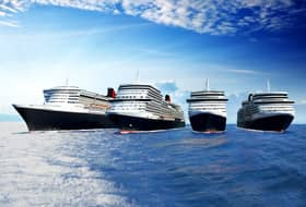 Cunard's Four Ships - Courtesy of Cunard Line