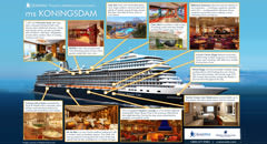 Holland America ms Koningsdam Infographic