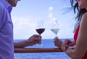 Couple Drinking Wine - Courtesy of Norwegian Cruise Line