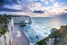 Etretat Cliffs near Normandy, France