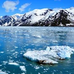 Alaskan mountains and glaciers