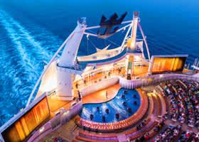 Harmony of the Seas AquaTheater - Courtesy of Royal Caribbean