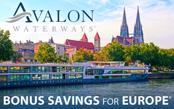 Avalon Waterways: up to $2,500 OFF Europe cruises*
