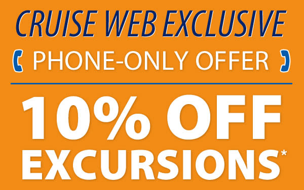 10% OFF Shore Excursions through The Cruise Web
