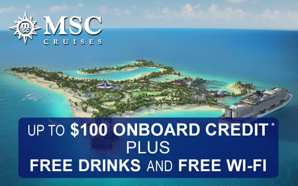 MSC All in PLUS: Up to $100 Onboard Credit* and...