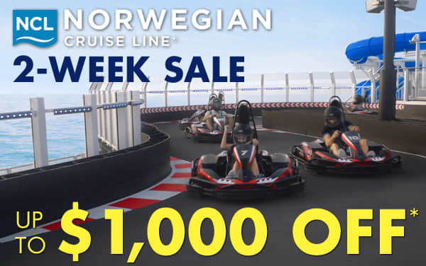 Up to $1,000 OFF Norwegian Cruise Line*