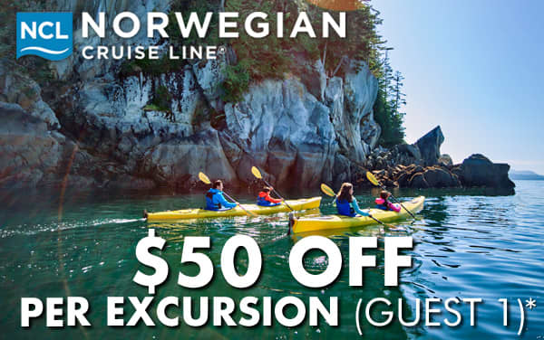 Norwegian Cruise Line: $50 OFF Per Excursion*