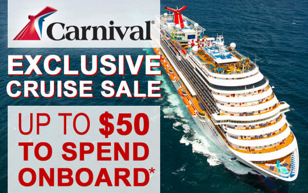 Exclusive Carnival Sale: up to $50 Onboard Credit*