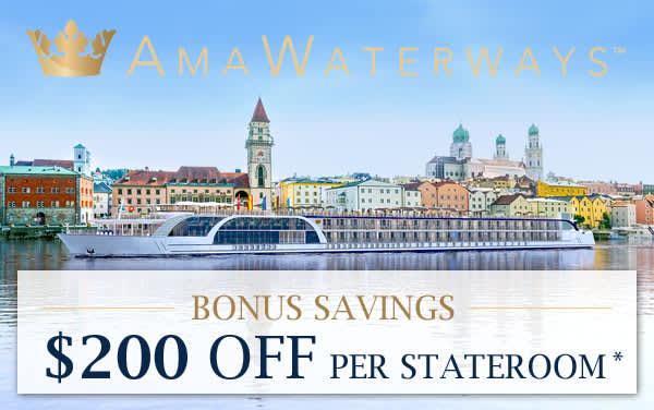 AmaWaterways: Exclusive $200 OFF per stateroom*