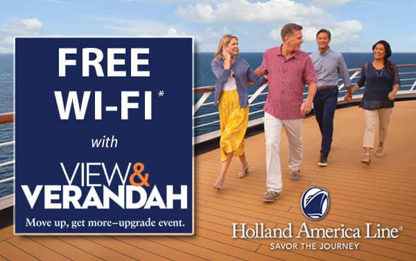 Holland America Bonus Sale: FREE Wi-Fi*