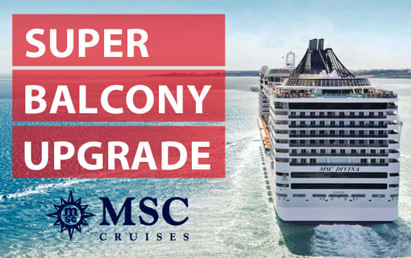 MSC Cruises: Super Balcony Upgrade Sale*