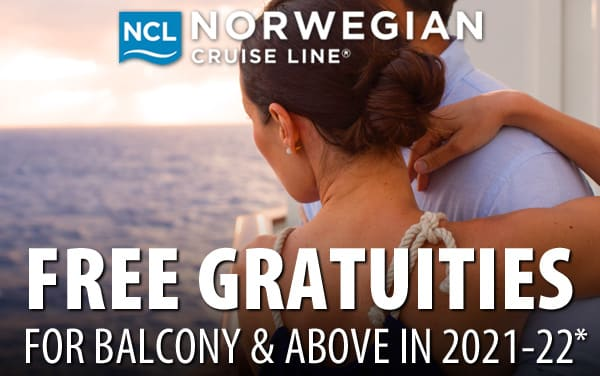 Norwegian: Free Gratuities for Balcony and above