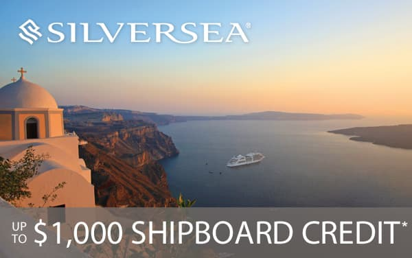 Silversea: FREE $1,000 Shipboard Credit*