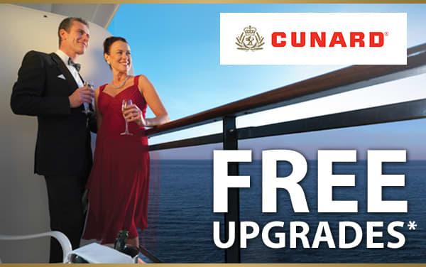 Cunard Sale: FREE Upgrade, Gratuities and Drinks*