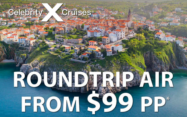 Celebrity Cruises: Airfare from $99 pp*