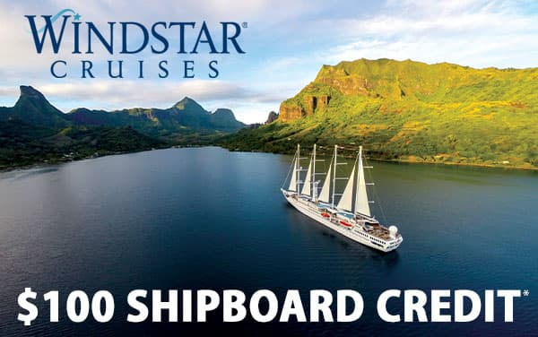 Windstar: Exclusive $100 FREE Shipboard Credit*