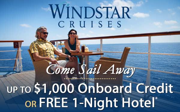Windstar Sale: Free Onboard Credit OR Hotel Stay*