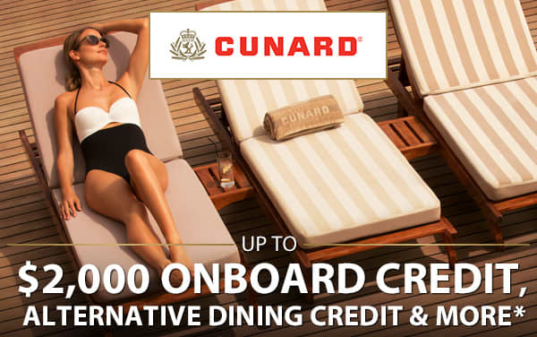Cunard Sale: FREE Onboard Credit, Specialty...