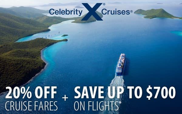 Celebrity Cruises: 20% OFF plus Airfare Savings*
