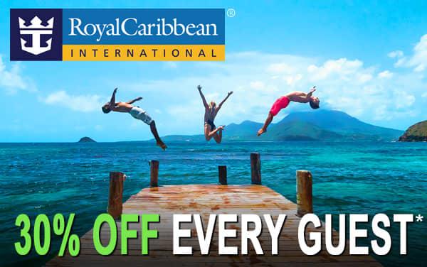 Royal Caribbean: 30% OFF Each Guest*