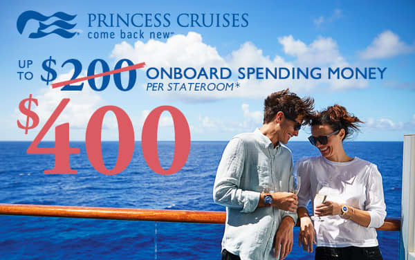 72-Hour Princess Sale: up to $400 Onboard Credit*