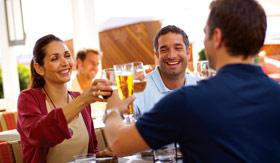 Celebrity dining Lawn Club Grill