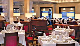 Cunard dining Princess Grill Restaurant
