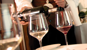 Cunard dining Wine Dinner