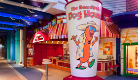Royal Caribbean International dining Boardwalk Dog House