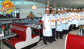 Royal Caribbean International dining Johnny Rockets