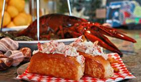 A classic lobster roll aboard Carnival