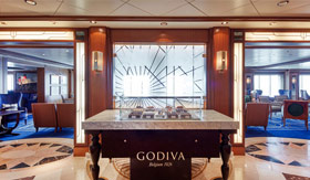 Godiva at the Chart Room aboard Cunard
