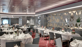 Silver Service Restaurant aboard MSC Cruises