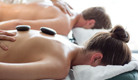 Hot rocks massage at Mandara Spa