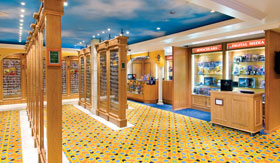 Duty-free shops on Norwegian Spirit