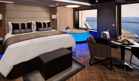 A suite in the Haven on Norwegian Encore